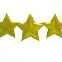 5 golden stars